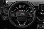 Car pictures of steering wheel view of a 2017 Ford Fiesta Titanium 3 Door Hatchback