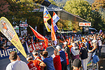 Big crowds watch the Men's Elite Individual Time Trial of the 2018 UCI Road World Championships running 52.5km from Wattens to Innsbruck, Innsbruck-Tirol, Austria 2018. 26th September 2018.<br /> Picture: Innsbruck-Tirol 2018/Sebastian Schels | Cyclefile<br /> <br /> <br /> All photos usage must carry mandatory copyright credit (© Cyclefile | Innsbruck-Tirol 2018/Sebastian Schels)