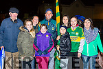 Lillie, Norelle and paddy Foley. back row: Jackie, karen, Shane, grace Foley, Marie O'shea and Rachel foley cheering on the boys in green at the Kerry team homecoming in Killarney on Monday