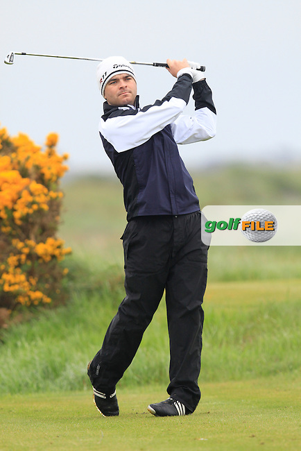 Kelan McDonagh (The Royal Dublin) on the 12th tee during the Round 1 of The Irish Amateur Open Championship in The Royal Dublin Golf Club on Thursday 8th May 2014.<br /> Picture:  Thos Caffrey / www.golffile.ie