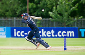 ICC World T20 Qualifier (Warm up match) - Scotland V Jersey at Heriots CC, Edinburgh - Scotland opener George Munsey hits out on his way to making 75 off 44 balls — credit @ICC/Donald MacLeod - 06.7.15 - 07702 319 738 -clanmacleod@btinternet.com - www.donald-macleod.com