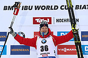 8th December 2017, Biathlon Centre, Hochfilzen, Austria; IBU Biathlon World Cup; Tarjei Boe (NOR)on the podium
