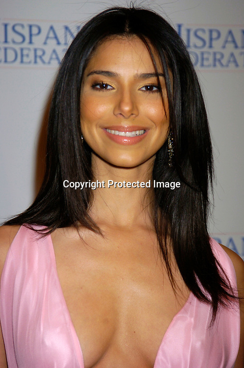 Roselyn Sanchez in Anel Verna dress..at the Hispanic Federation's 10th Annual Gala on March 11, 2004 at the Waldorf Astoria Hotel. ..Photo by Robin Platzer, Twin Images