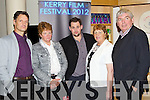 Pictured at the screening of Pilgrim Hill at the Kerry Film Festival on Tuesday evening in Siamsa Tire, Tralee, were l-r: Joe Mullins, Mary Walsh, Peggy Barrett, Gerard Barrett, (Director Pilgrim Hill) and Fr Pat Moore
