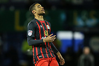 Blackburn Rovers' Dominic Samuel rues a near miss<br /> <br /> Photographer Andrew Kearns/CameraSport<br /> <br /> The EFL Sky Bet League One - Portsmouth v Blackburn Rovers - Tuesday 13th February 2018 - Fratton Park - Portsmouth<br /> <br /> World Copyright &copy; 2018 CameraSport. All rights reserved. 43 Linden Ave. Countesthorpe. Leicester. England. LE8 5PG - Tel: +44 (0) 116 277 4147 - admin@camerasport.com - www.camerasport.com