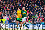 Kieran Donaghy Kerry in action against Eamonn McGee Donegal in Division One of the National Football League at Austin Stack Park Tralee on Sunday.