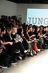 Kelly Rutherford front row at Jungwon Fashion Show presented by RUSK during the fall/winter 2014 Nolcha Fashion Week - spotlighting independent designers on February 12, 2014 at Pier 59, New York City, New York.  (Photo by Sue Coflin/Max Photos)