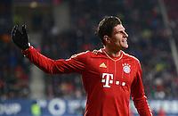 FUSSBALL   1. BUNDESLIGA  SAISON 2012/2013   16. Spieltag FC Augsburg - FC Bayern Muenchen         08.12.2012 Jubel nach dem Tor zum 0:2 Mario Gomez (FC Bayern Muenchen)