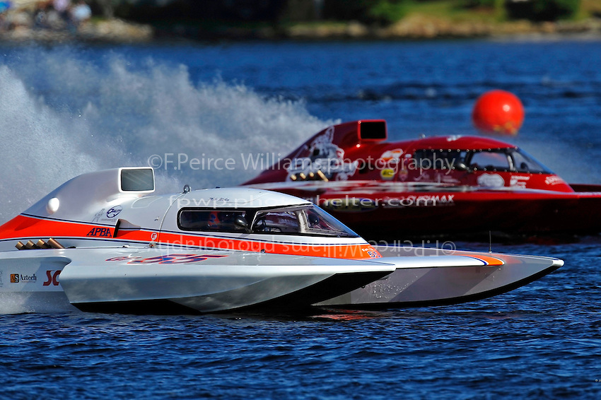 "Mike Weber, GP-55 ""My Way"" and Pierre Mahaeu, GP-46 ""adf diesel"" (Grand Prix Hydroplane(s)"
