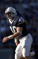 04 September 2004: Dan Connor, Penn State true freshman LB, is lighted by a beam of light during the second half.  Connor recorded 5 tackles in his first college game.  Penn State defeated Akron 48-10 during their season opener 9-4-04 at Beaver Stadium in State College, PA....