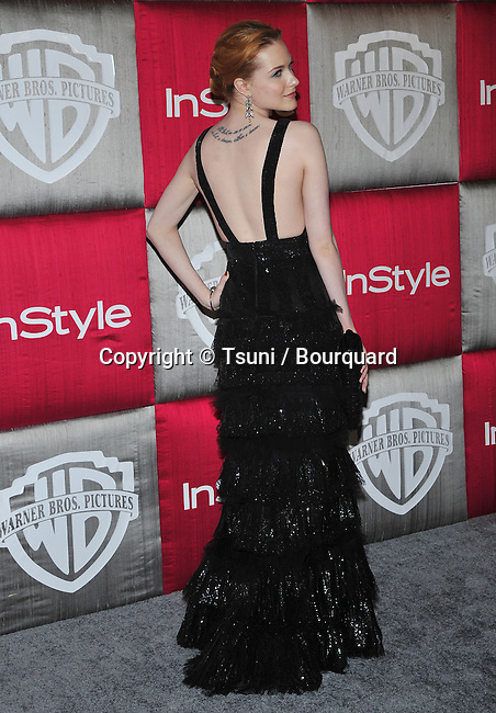Evan Rachel Wood -<br /> In Style Party after the Golden Globe Awards at the Beverly Hilton in Los Angeles.
