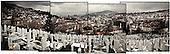 Sarajevo 13.12.2009 Bosnia and Herzegovina<br /> Panorama of the city center of Sarajevo - in the foreground you can see one of the Bosnian cemeteries.<br /> Bosnia and Herzegovina for many years dreamed to be adopted into the European Union. On the streets, everybody can see young and old people who looks like Europeans. Streets in the city center are also similar to European cities. Unfortunately, all people in BiH know that political disagreement between warring nationalities in the parliament does not help them to be accepted into the EU.<br /> Photo: Adam Lach / Newsweek Polska / Napo Images<br /> <br /> Panorama centrum miasta Sarajewa - na pierwszym planie widac jeden z bosniackich cmentarzy..BiH od wielu lat marzy by przyjeto ja do UE. NA ulicach widac mlodych i starszych ludzi ktory wygladaja jak europejczycy. Ulice w centrum miasta sa rownie podobne do miast europejskich. Niestety wewnetrznie wszyscy wiedza ze polityczna niezgoda pomiedzy zwasnionymi narodowosciami w parlamencie nie pomaga im na to by przystapic do UE.<br /> Photo: Adam Lach /  Newsweek Polska / Napo Images