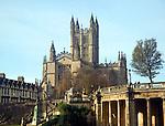 Abbey church, Bath, England