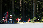 Young fan at the roadside during the Women Elite Road Race of the 2018 UCI Road World Championships running 156.2km from Kufstein to Innsbruck, Innsbruck-Tirol, Austria 2018. 29th September 2018.<br /> Picture: Innsbruck-Tirol 2018 | Cyclefile<br /> <br /> <br /> All photos usage must carry mandatory copyright credit (&copy; Cyclefile | Innsbruck-Tirol 2018)