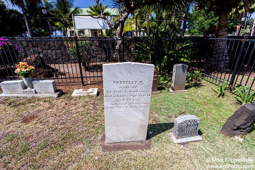 Mokuaikaua Church Cemetery, Kailua-Kona, Big Island, Hawaii
