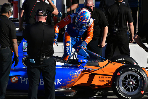 2018 Verizon IndyCar Series Phoenix testing<br /> Phoenix Raceway, Avondale, Arizona, USA<br /> Thursday 8 February 2018<br /> Scott Dixon, Chip Ganassi Racing Honda windscreen test <br /> World Copyright: Scott R LePage/LAT Images<br /> ref: Digital Image _SRL2959