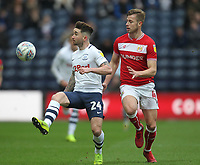 Preston North End's Sean Maguire in action with Bristol City's Adam Webster<br /> <br /> Photographer Mick Walker/CameraSport<br /> <br /> The EFL Sky Bet Championship - Preston North End v Bristol City - Saturday 2nd March 2019 - Deepdale Stadium - Preston<br /> <br /> World Copyright © 2019 CameraSport. All rights reserved. 43 Linden Ave. Countesthorpe. Leicester. England. LE8 5PG - Tel: +44 (0) 116 277 4147 - admin@camerasport.com - www.camerasport.com
