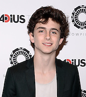 NEW YORK, NY - JUNE 24 :Timothy Chalamet pictured at the Premiere of premiere of RADiUS-TWC's SNOWPIERCER at MOMA in New York City, June 24, 2014 in New York City.© HP/ Starlitepics.