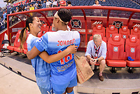 Bridgeview, IL - Sunday September 03, 2017: Yuki Nagasato, Samantha Johnson during a regular season National Women's Soccer League (NWSL) match between the Chicago Red Stars and the North Carolina Courage at Toyota Park. The Red Stars won 2-1.