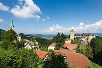 Oesterreich, Oberoesterreich, Vichtenstein: mit Burg Vichtenstein | Austria, Upper Austria, Vichtenstein: with Castle Vichtenstein