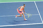 Barbora Strycova of Czech Republic vs Roberta Vinci of Italy during their Singles Round Robin match at the Huajin Securities WTA Elite Trophy Zhuhai at the Hengqin International Tennis Centre on 01 November 2016 in Zhuhai, China. Photo by Marcio Rodrigo Machado / Power Sport Images