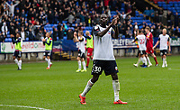 Bolton Wanderers' Yoan Zouma applauds the crowd at the end of the match<br /> <br /> Photographer Andrew Kearns/CameraSport<br /> <br /> The EFL Sky Bet Championship - Bolton Wanderers v Coventry City - Saturday 10th August 2019 - University of Bolton Stadium - Bolton<br /> <br /> World Copyright © 2019 CameraSport. All rights reserved. 43 Linden Ave. Countesthorpe. Leicester. England. LE8 5PG - Tel: +44 (0) 116 277 4147 - admin@camerasport.com - www.camerasport.com