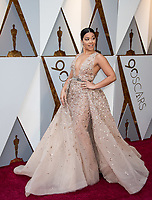 Gina Rodriguez arrives on the red carpet of The 90th Oscars&reg; at the Dolby&reg; Theatre in Hollywood, CA on Sunday, March 4, 2018.<br /> *Editorial Use Only*<br /> CAP/PLF/AMPAS<br /> Supplied by Capital Pictures