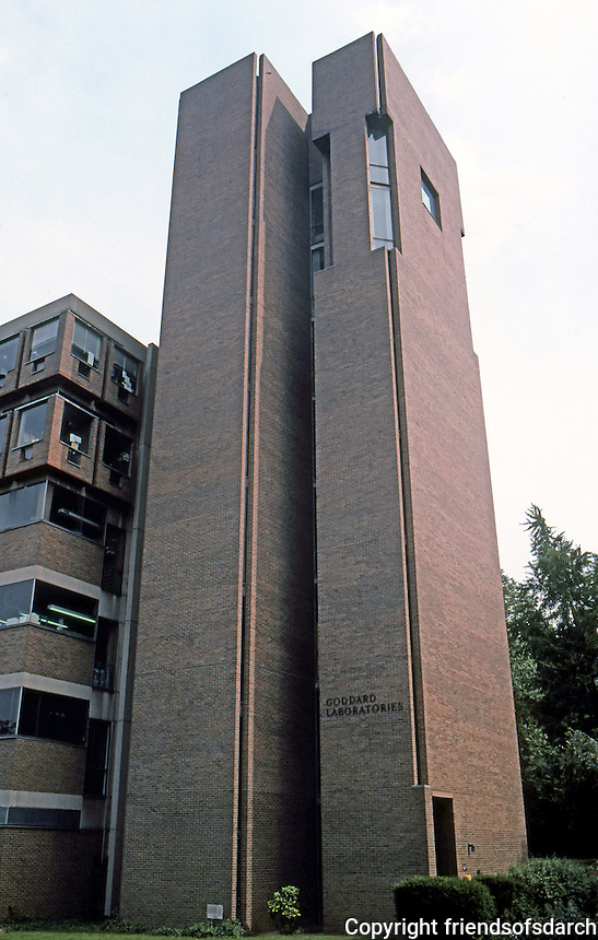 Louis I. Kahn: Richards Laboratory, Tower. U. of Pennsylvania 1957-61.  Photo '85.