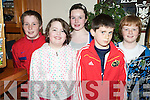 Pictured at the Kerry Community Games U14 quiz in Darby O'Gills, Killarney on Monday evening were Sean Dowling, Niamh Furlong, Kelly Brosnan, Alan McLoughlin and Kevin Dwyer, Blennerville...