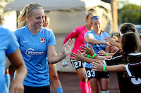 Piscataway, NJ - Wednesday Sept. 07, 2016: Leah Galton prior to a regular season National Women's Soccer League (NWSL) match between Sky Blue FC and the Orlando Pride FC at Yurcak Field.