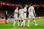England's Raheem Sterlingcs celebrates goal during UEFA Nations League 2019 match between Spain and England at Benito Villamarin stadium in Sevilla, Spain. October 15, 2018. (ALTERPHOTOS/A. Perez Meca)