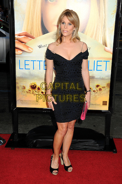 "CHERYL HINES .Attending ""Letters To Juliet"" Los Angeles Premiere held at Grauman's Chinese Theatre, Hollywood, California , USA, .11th May 2010..arrivals full length black cleavage dress open toe platform shoes pink clutch bag off the shoulder .CAP/ADM/BP.©Byron Purvis/AdMedia/Capital Pictures."