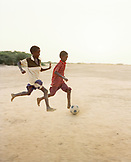 ERITREA, Tio, kids playing soccer in the town of Tio