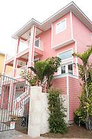Pink home on the beach.  Indian Rocks Beach Tampa Bay Area Florida USA