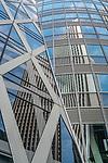 Reflections in the Mode Gakuen Tower in Shinjuku, Tokyo, Japan.