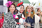 Pictured at Listowel Races, Ladies Day on Friday from left:  Mary, Bridie and Barbara Brown (all from Listowel).