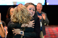 Philadelphia, PA - Thursday January 18, 2018: Morgan Reid during the 2018 NWSL College Draft at the Pennsylvania Convention Center.