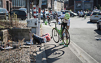 Marcel Sieberg (DEU/Lotto-Soudal) crashed just after a railroad crossing hitting the (open!) barriers & injuring his shoulder. He was forced to abandon the race.<br /> <br /> 12th Eneco Tour 2016 (UCI World Tour)<br /> Stage 6: Riemst › Lanaken (185km)