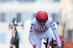 Dan Martin (IRL) UAE Team Emirates on the 17% climb during Stage 13 of the 2019 Tour de France an individual time trial running 27.2km from Pau to Pau, France. 19th July 2019.<br /> Picture: Colin Flockton | Cyclefile<br /> All photos usage must carry mandatory copyright credit (© Cyclefile | Colin Flockton)