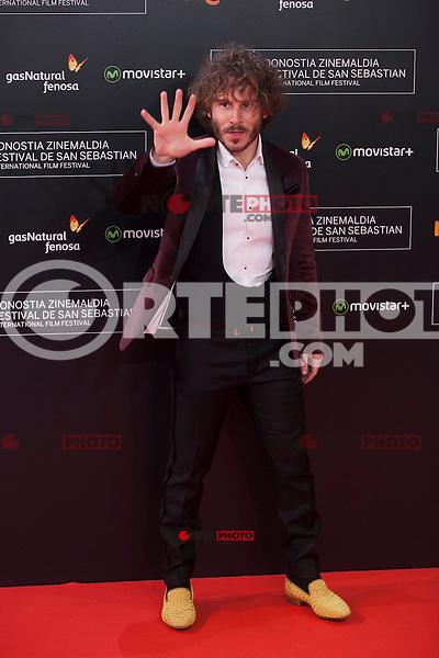 Ruben Ochandiano poses before 63rd Donostia Zinemaldia opening ceremony (San Sebastian International Film Festival) in San Sebastian, Spain. September 18, 2015. (ALTERPHOTOS/Victor Blanco) /NortePhoto.com