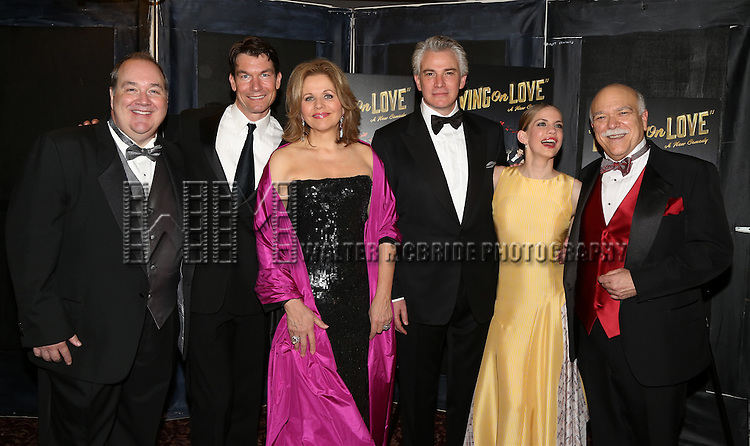 Blake Hammond, Jerry O'Connell, Renee Fleming, Douglas Sills, Anna Chlumsky, Scott Robertson attend the Broadway Opening Night Performance After Party for 'Living on Love' at Sardi's on April 20, 2015 in New York City.