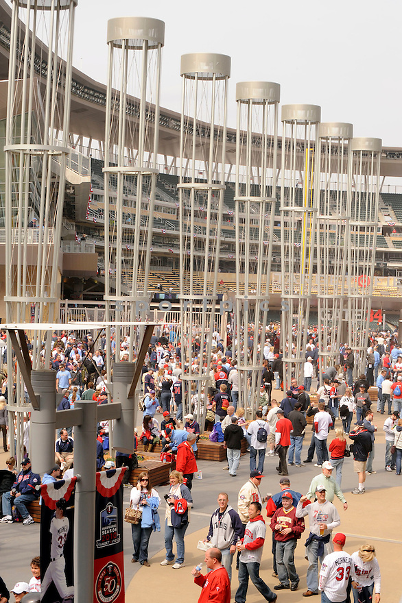 Opening day for Target Field,the new home for the Minnesota Twin, on April 12, 2010 against the Boston Red Sox