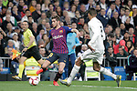 Real Madrid CF's Raphael Varane and FC Barcelona's Sergi Roberto during La Liga match. March 02,2019. (ALTERPHOTOS/Alconada)