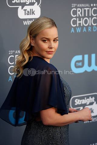 Abbie Cornish attends the 23rd Annual Critics' Choice Awards at Barker Hangar in Santa Monica, Los Angeles, USA, on 11 January 2018. Photo: Hubert Boesl - NO WIRE SERVICE - Photo: Hubert Boesl/dpa /MediaPunch ***FOR USA ONLY***