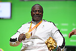 Mohammed Khalaf (UAE), <br /> SEPTEMBER 13, 2016 - Powerlifting : <br /> Men's -88kg Medal Ceremony <br /> at Riocentro - Pavilion 2<br /> during the Rio 2016 Paralympic Games in Rio de Janeiro, Brazil.<br /> (Photo by AFLO SPORT)
