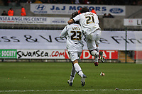 Pictured: Guillem Bauzà (left) and Federico Bessone (right) of Swansea City in action <br /> Re: Coca Cola Championship, Swansea City Football Club v Watford at the Liberty Stadium, Swansea, south Wales 09 November 2008.<br /> Picture by Dimitrios Legakis Photography (Athena Picture Agency), Swansea, 07815441513