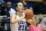 05 November 2015: Duke's Rebecca Greenwell. The Duke University Blue Devils hosted the Pfeiffer University Falcons at Cameron Indoor Stadium in Durham, North Carolina in a 2015-16 NCAA Women's Basketball Exhibition game. Duke won the game 113-36.
