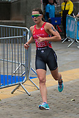 June 11th 2017, Leeds, Yorkshire, England; ITU World Triathlon Leeds 2017; Flora Duffy competes in the running phase around Leeds city centre