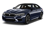 2018 BMW M5 Base 4 Door Sedan angular front stock photos of front three quarter view
