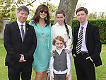 Keri Martin who was Confirmed in the Sacred Heart Church Laytown pictured with her parents Sean and Sharon and brothers Caelm and Cameron. Photo:Colin Bell/pressphotos.ie